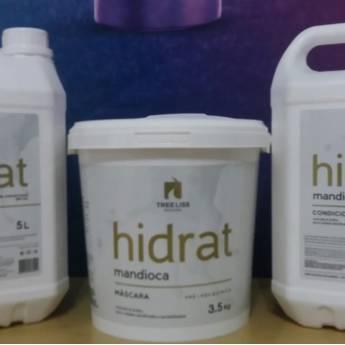Comprar o produto de KIT LAVATÓRIO HIDRAT MANDIOCA da TREE LISS 3 PRODUTOS SHAMPOO 5 LTS, CONDICIONADOR 5 LTS, MASCARA 3,5 KG em Tratamento em Araçatuba, SP por Solutudo