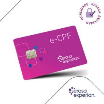 Comprar o produto de e-CPF em Outros Serviços em Tietê, SP por Solutudo