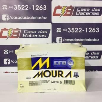 Comprar o produto de Bateria Moura MF72LD em Baterias Automotivas pela empresa Casa das Baterias em Foz do Iguaçu, PR por Solutudo