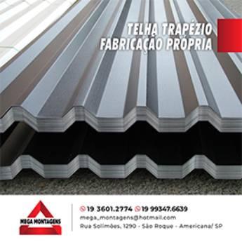 Comprar produto TELHA TRAPÉZIO  em Telhas pela empresa Calhas Mega Montagens em Americana, SP