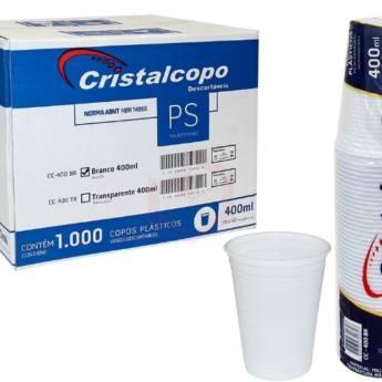 Comprar o produto de Caixa Copo Descartável Cristalcopo Transparente 400ml C/1000 em Descartáveis para Festa em Jundiaí, SP por Solutudo