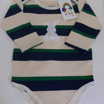 Comprar o produto de Body Listrado c/bordado em Confecções de Roupas em Balneário Barra do Sul, SC por Solutudo