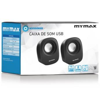 Comprar o produto de Caixa De Som Mymax USB 6W RMS – Preto – SP205 em Caixas de Som e Subwoofer em Botucatu, SP por Solutudo