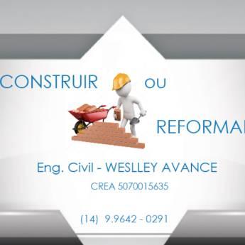 Comprar produto Execução e Gerenciamento de Obra ou Reforma em Engenharia - Engenheiros pela empresa Weslley Avance em Botucatu, SP