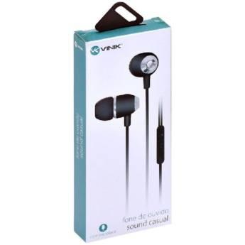 Comprar o produto de Fone De Ouvido Vinik Sound Casual Preto em Eletrônicos, Áudio e Vídeo em Tietê, SP por Solutudo