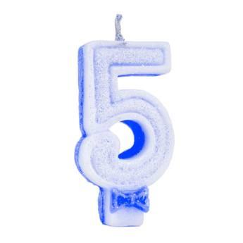 Comprar o produto de Vela Glitter Num: 5 em Mais Categorias pela empresa Eloy Festas em Jundiaí, SP por Solutudo
