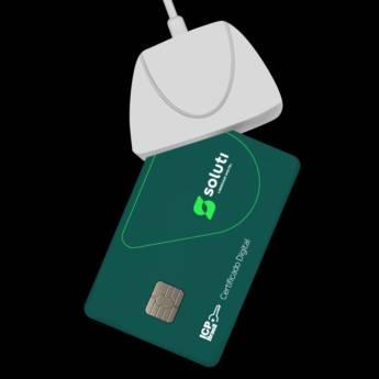 Comprar o produto de E-CNPJ A3 DE 3 ANOS EM CARTÃO + LEITORA em Certificação Digital em Botucatu, SP por Solutudo