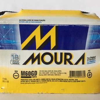 Comprar o produto de Bateria Moura M60GD - 60AH em Baterias pela empresa Casa das Baterias em Foz do Iguaçu, PR por Solutudo