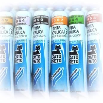 Comprar o produto de Tinta Acrílica Gato Preto  em Materiais Escolares pela empresa Eloy Festas em Jundiaí, SP por Solutudo