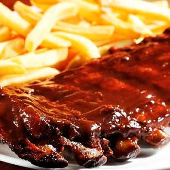 Comprar o produto de Porção • Costelinha Suína Defumada c/ Barbecue em Porções pela empresa Old Home Burger Gourmet  em Atibaia, SP por Solutudo