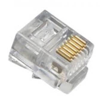 Comprar o produto de CONECTOR RJ11 TELEFONIA em Redes e Wi-Fi em Birigui, SP por Solutudo