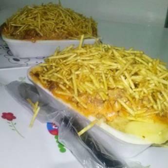 Comprar produto batata recheada em Marmitex pela empresa Lanchonete Saudades em Birigui, SP