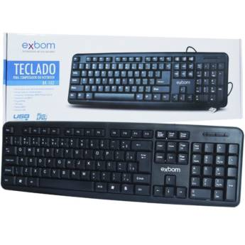 Comprar o produto de Teclado USB comum para computadores e notebooks em Teclados em Botucatu, SP por Solutudo