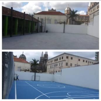 Comprar o produto de Pintura Epóxi para quadras poliesportivas em Outros Serviços em Botucatu, SP por Solutudo