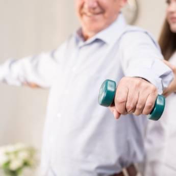 Comprar produto Fisioterapia em Nossos Diferenciais  pela empresa Casa Elo - Casa de Repouso para Mulheres em Atibaia, SP