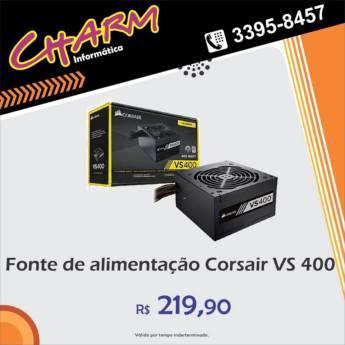 Comprar o produto de Fonte de Alimentação Corsair VS 400 em Outros Serviços em Jundiaí, SP por Solutudo