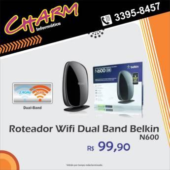 Comprar o produto de Roteador Wifi Dual Band Belkin N600 em Outros Serviços em Jundiaí, SP por Solutudo