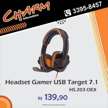 Comprar o produto de Headset Gamer USB Target 7.1 em Alimentos e Bebidas em Jundiaí, SP por Solutudo
