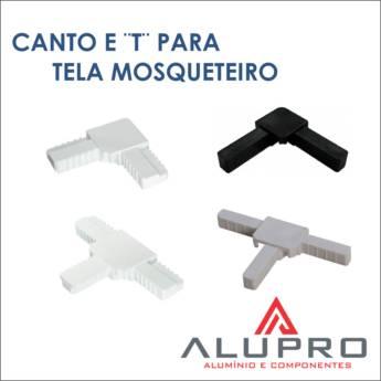 """Comprar produto Canto E """"T"""" para tela mosqueteiro em Outros pela empresa Alupro Alumínio e Componentes em Botucatu, SP"""