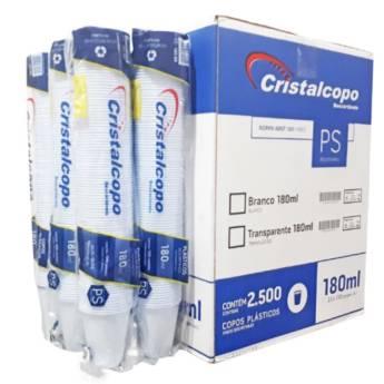Comprar o produto de Caixa Copo Descartável Cristalcopo Transparente 180ml C/2500 em Descartáveis para Festa em Jundiaí, SP por Solutudo
