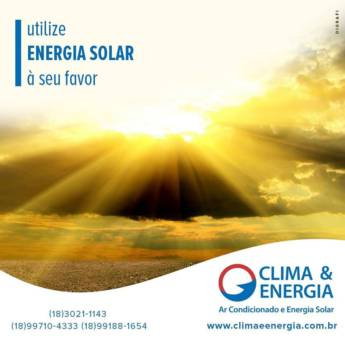 Comprar produto Energia Solar em Construção pela empresa Clima & Energia - Ar Condicionado e Energia Solar em Araçatuba, SP