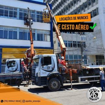 Comprar o produto de Locação de Munck e Cesto aéreo em Outros Serviços em Aracaju, SE por Solutudo