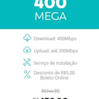 Comprar o produto de Internet Fibra - 400 Mega em Provedores em Botucatu, SP por Solutudo