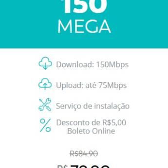 Comprar o produto de Internet Fibra - 150 Mega em Provedores em Botucatu, SP por Solutudo