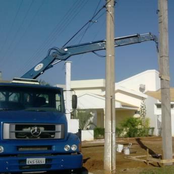 Comprar o produto de Entrega e Instalação de Postes em Instalação Elétrica em Birigui, SP por Solutudo