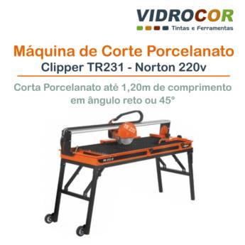 Comprar o produto de Máquina de corte de porcelanato Clipper TR231 - Norton 220V em Máquinas Elétricas pela empresa Vidrocor Tintas - Loja 1 em Botucatu, SP por Solutudo
