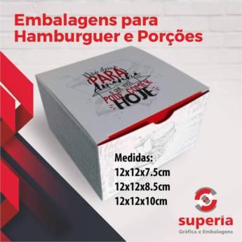 Comprar o produto de Embalagem para Hamburguer e Porção em Outros em Bauru, SP por Solutudo