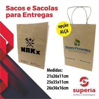 Comprar o produto de Sacos e Sacolas para Entregas em Sacolas de Papel em Bauru, SP por Solutudo