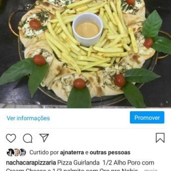 Comprar o produto de Guirlanda alho poró com cream chesse // Meia palmito com ora pro nobis em Pizzas em Botucatu, SP por Solutudo