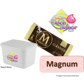 Comprar produto Sorvete de massa sabor Magnum | Pote de 2 litros em Sorvete de Massa pela empresa Sorveteria Doce Sabor em Bauru, SP
