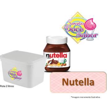 Comprar produto Sorvete de massa sabor Nutella | Pote de 2 litros em Sorvete de Massa pela empresa Sorveteria Doce Sabor em Bauru, SP