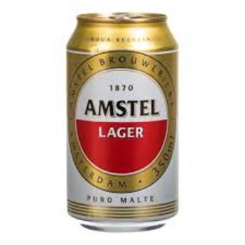 Comprar o produto de Amstel Lata em Cervejas em Foz do Iguaçu, PR por Solutudo