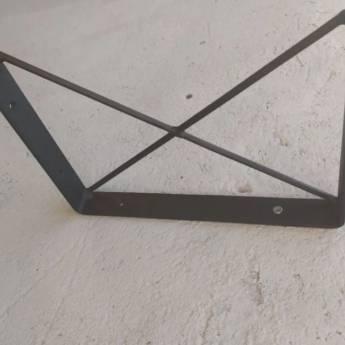 Comprar o produto de Kit 4 Mãos Francesas X Estilo Industrial Ferro em Outros em Foz do Iguaçu, PR por Solutudo