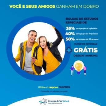 Comprar produto Você e seus amigos ganham em dobro  em Cursos pela empresa Cruzeiro do Sul Virtual - Presidente Prudente em Presidente Prudente, SP