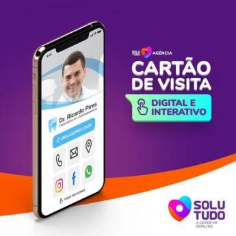 Comprar o produto de Criação de cartão de visita digital e interativo em Marketing e Internet em Birigui, SP por Solutudo