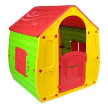 Comprar produto Casinha infantil colorida com porta e janelas em Brinquedos para Playground pela empresa Pilão Shop em Foz do Iguaçu, PR