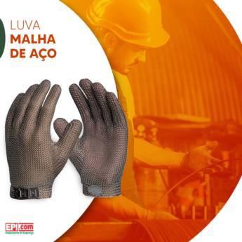 Comprar o produto de Luva de malha de aço  em Luvas de Segurança em Birigui, SP por Solutudo