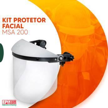 Comprar o produto de Kit Protetor Facial MSA 200 em Proteção Facial em Birigui, SP por Solutudo