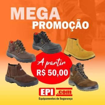 Comprar o produto de Calçados de proteção À PARTIR DE R$ 50,00 em Sapatos de Segurança em Birigui, SP por Solutudo
