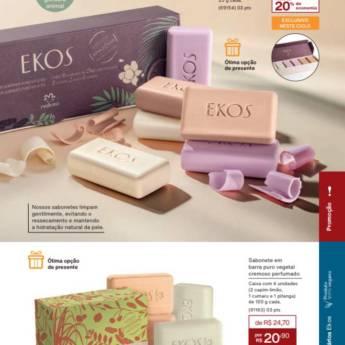 Comprar o produto de Pronta Entrega - Sabonete Ekos Cremoso Sortido Natura em Cosméticos e Cuidado Pessoal pela empresa Lavanderia Mary em Foz do Iguaçu, PR por Solutudo