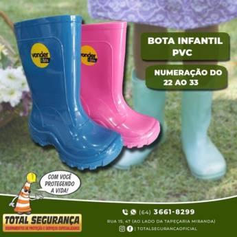Comprar o produto de Bota Infantil de Pvc em Produtos de Limpeza pela empresa Total Segurança em Mineiros, GO por Solutudo