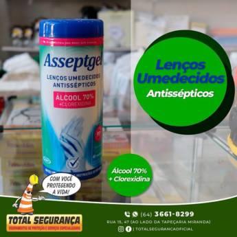 Comprar o produto de Lenços Umedecidos Antissépticos em Lenços Umedecidos pela empresa Total Segurança em Mineiros, GO por Solutudo