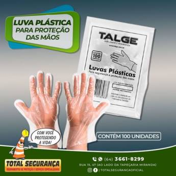 Comprar o produto de Luvas Plásticas em Luvas de Procedimentos pela empresa Total Segurança em Mineiros, GO por Solutudo