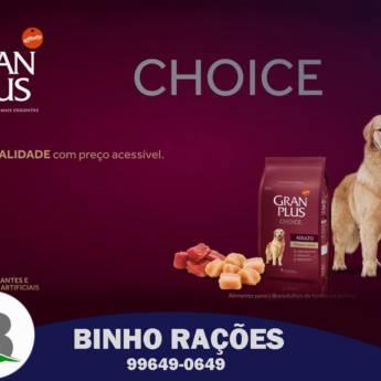 Comprar o produto de Ração Gran Plus Choice em Ração para Cachorros em Botucatu, SP por Solutudo