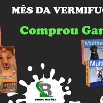 Comprar o produto de Mês da Vermifugação, Comprou Ganhou !!! em Ração para Cachorros em Botucatu, SP por Solutudo