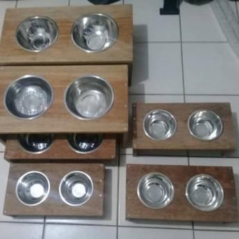 Comprar o produto de Comedouro de Madeira em Bebedouros e Comedouros em Botucatu, SP por Solutudo